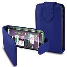 PCMOVILES -- Azul Funda de piel con tapa solapa para Samsung galaxy mini s5570
