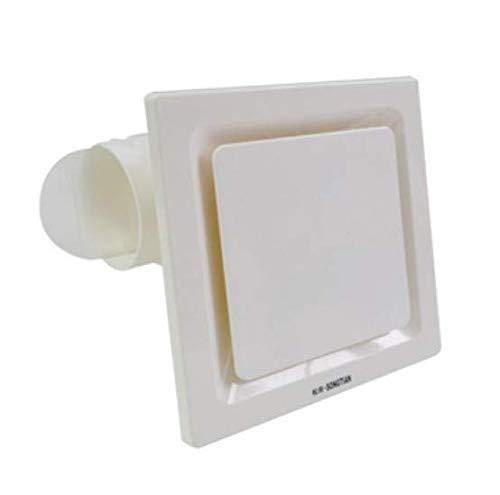 Fenteer Weiß Deckenmontierter Abluftventilator Badlüfter Wandventilator Ventilator für Badezimmer Küchen - C 26x26cm
