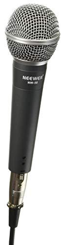 """Neewer® Alliage Zinc Noir Professionel Dynamique Microphone à Main pour le Karaoké, Stade, Enregistrement Studio à la maison, avec 1/4 """"Mâle à XLR Femelle Câble"""