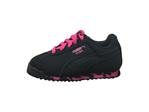 Puma Roma MS Print Textile Turnschuhe Black-Pink Glo-Dark Shadow