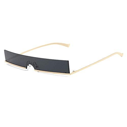 @Y.T Einteilige Sonnenbrille für Herren und Damen mit schmaler Sonnenbrille in Ozeanfarbe,E