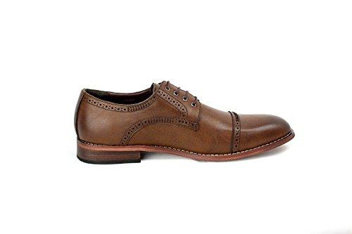 hommes décontractéélégant Oxford Chaussures Mode HabilléÀ Lacets Travail Bureau Taille 39-44 NEUF Marron