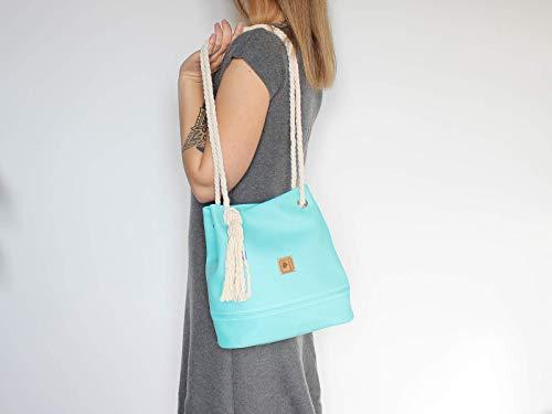 Handtasche Türkis - Blau - 2