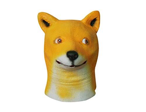 Kostüm Underdog - Maskerade Neuheit Halloween Super Bowl Underdog Kostüm Party Latex Tier Hundekopf Maske (Akita),A,A