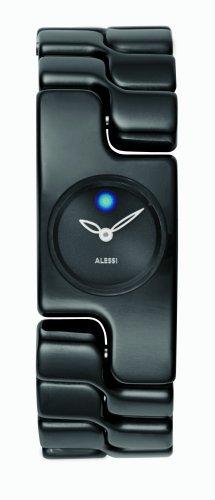 Alessi - AL15002 - Montre Femme - Quartz - Analogique - Bracelet Acier Inoxydable Noir