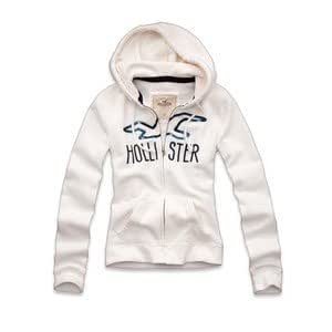 Hollister Hoodie Damen*Model Bay Park Shine**Groesse M*weiss