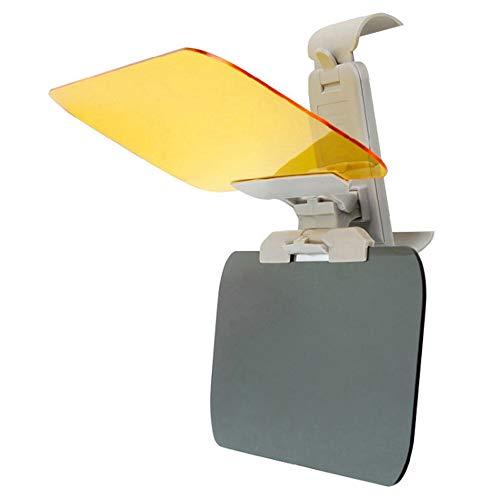 Limeo Verbesserte Version der Autosonnenblende Tag und Nacht Blendschutz Sonnenblende 2 in 1 Universal HD Windschutzscheibenblende Auto Sonnenblende Schutz Fahren Sonnenschutz