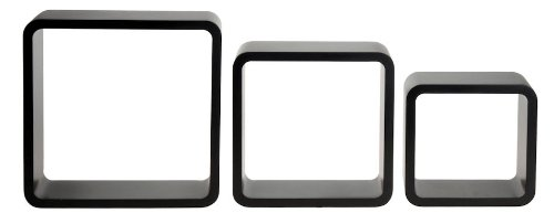 Regalwürfel 3er Set - in schwarz oder weiß (schwarz)