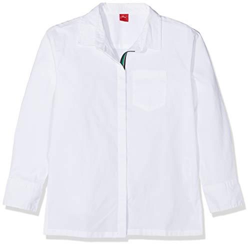 s.Oliver RED Label Mädchen Hemdbluse mit Streifen-Detail White M.REG