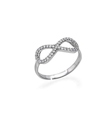 Sciccherie - Anillo símbolo infinito ajustable plata