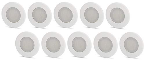 Juego de 10 lámparas LED empotrables para pared (230 V, para caja...