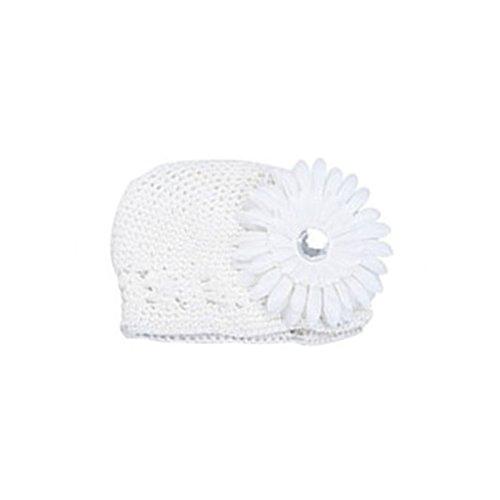 Baby Mütze, Häkelmütze, Beanie mit Blumenklemme (Daisy Baby-hüte)