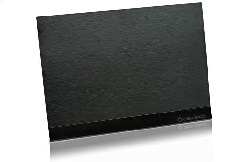 OEHLBACH D1C17208 Flat Style One DVB-T2 HD Antenne (DAB+ vorbereitet) - Digitale Zimmerantenne - Aktiv DVB-T-Verstärker Innenantenne - Schwarz