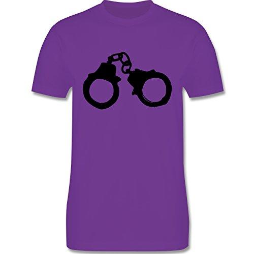 JGA Junggesellenabschied - Handschellen - Herren Premium T-Shirt Lila
