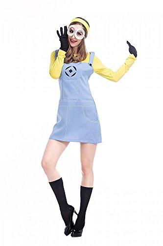shoperama Minion Damen-Kostüm Kleid Erwachsene Verkleidung Start Kevin Gelb Karneval, Größe:M