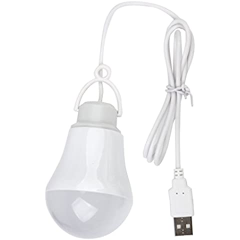 DC5V 5W-USB Alimentato LED Lampadina Portatile Per Laptop Esterna -