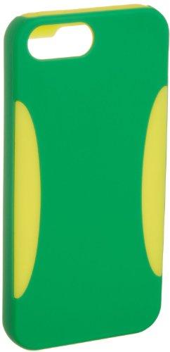 AmazonBasics Coque en polycarbonate/silicone pour iPhone 5/5s et SE Vert/jaune Vert/Jaune