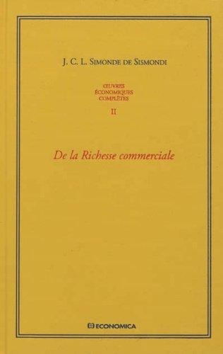 Oeuvres économiques complètes, Vol 2 par Jean Charles Léonard Simonde de Sismondi