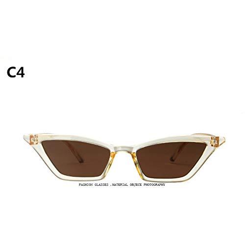 CCGSDJ 2018 Neue Sonnenbrille Frauen Marke Design Retro Bunte Transparent Bunte Mode Cat Eye Sonnenbrille Männer