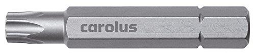 CAROLUS Bit 5/16 Zoll, 50 mm lang, TORX mit Stift TXB45, 1 Stück, 6096.45