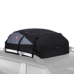 Sailnovo Car Roof Bag, 20 Cubic Feet Large Roofing Cargo Carrier Bags Waterproof Soft Rooftop Luggage Storage Box for Any Cars with Roof Rack/Rails/Bars, Black