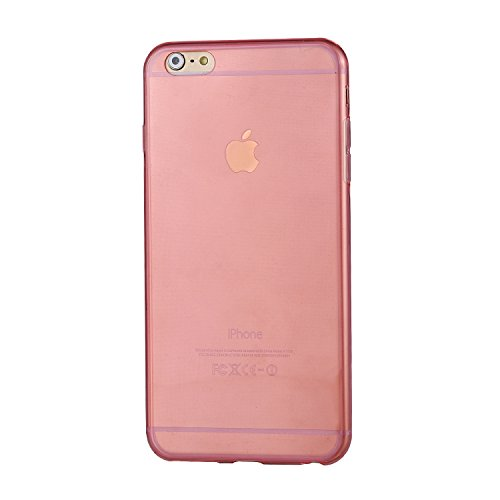 "RE:CRON® iPhone 6 Plus (5,5"") Silikon Case Hülle Cover transparent - pink Pink"