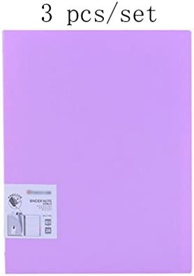 Liu Liu Liu Yu·Bureau, papeterie de bureau Pourpre B5 Notepad Fashion Notebook 3 pcs / set | Distinctif  e1f10a