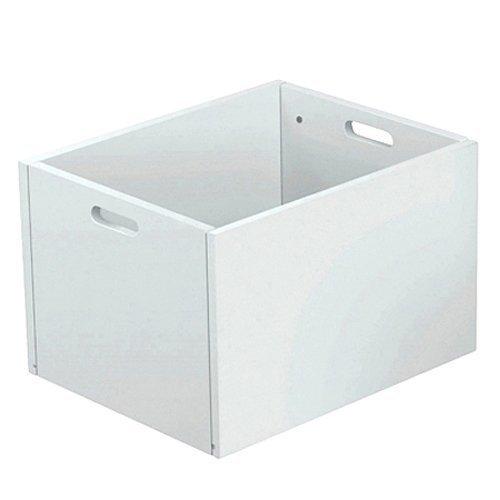 Caja de almacenaje/box Pretty, de colour blanco, 34 x 42 x 27 cm