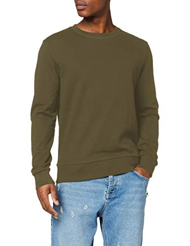 JACK & JONES Herren JJEHOLMEN Sweat Crew Neck NOOS Pullover, Grün(Olive NightOlive Night), Medium