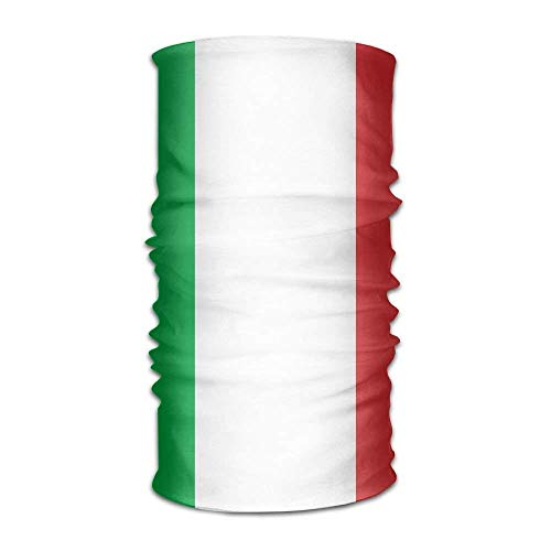 Italian Flag Women Men Cool Headwear Bandanas - Multifunctional Headband Sports Magic Scarf For Outdoor Activity
