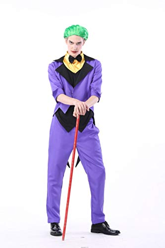 (MTSBW Halloween Kostüm Zirkus Clown Rollenspiel Anzug Liebhaber Nachtclub Thema Party Bühne,Men,M)