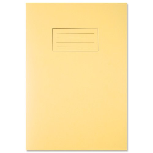 silvine-exercise-book-ruled-and-margin-80-pages-a4-yellow-ref-ex109-pack-of-10