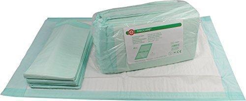 Ribocare 100 Stück Krankenunterlagen Wickelunterlagen Welpenunterlagen in Folie verpackt (40 x 60 8-lagig)