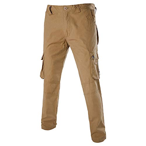 Geili Herren Cargohose Übergröße Freizeithose Viele Taschen Kampfhose Arbeitshose Männer Casual Tactical Military Armee Combat Lang Hosen Herbst Winter Regular Fit Cargo Pants -