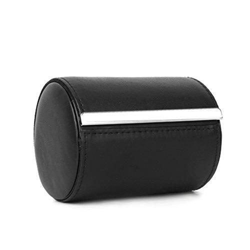 Schwarz Krawatte Reise Fall Aufbewahrung Geschenk-Box Zylinder Form