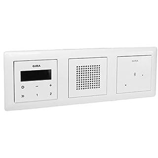 Gira Unterputz-Radio RDS mit Lautsprecher und Rahmen - reinweiß glänzend + Bluetooth