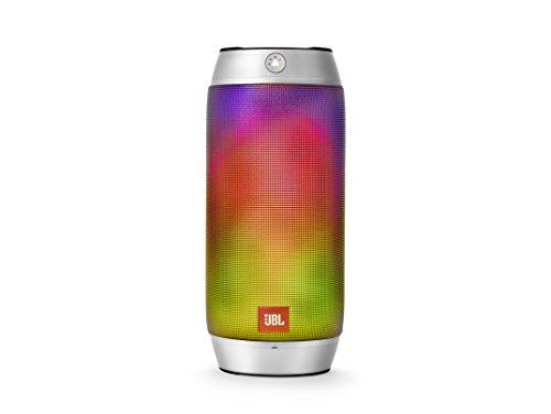 JBL Pulse 2 Attive Minispeaker Bluetooth, Portatile, Ricaricabile, con Vivavoce, Compatibile con Smartphone/Tablet e Dispositivi MP3, Grigio