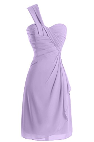 Sunvary a-line One-Shoulder Ruched garza vestiti Homecoming cocktail Lilac