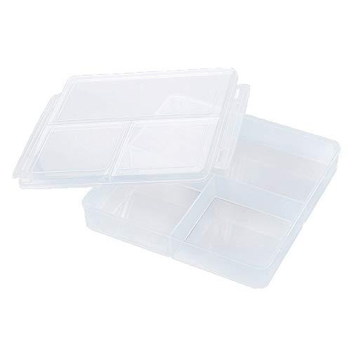 Contenitori alimentari plastica senza bpa pinacis riutilizzabili cucina insalata scatole con 3 scomparti, 1.5 l