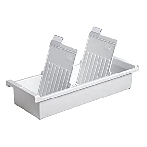 HAN 956-0-1-11, Card index tray A6 portrait. Innovative, attractive design holds 1,300 cards, supplied with 2 support plates with clear file clips, light-grey