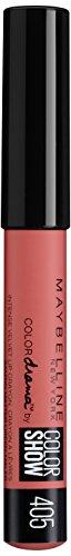 Maybelline Color Drama Lippen-Stift Nr. 405 Love Peache, Lippenstift in Stiftform, satte, intensive Farbe, mattes Finish, cremige Textur, feuchtigkeitsspendend -