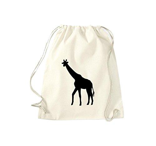 Turnbeutel; Tiermotiv Giraffe, Savanne, Wildlife; Farbe Natur - Giraffe Kuscheltier 36