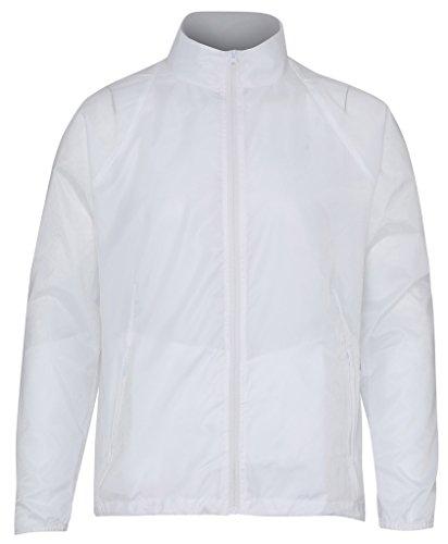 MAKZ Herren Mantel Weiß