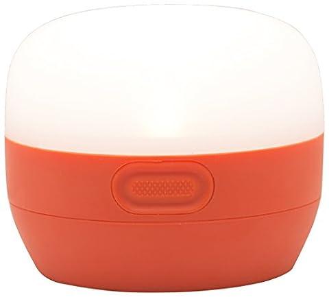 Black Diamond Moji Vibrant Orange / Zeltlicht - helle, spritzwassergeschützte LED-Lampe mit langer Laufzeit von 70 Stunden / Kleines Campinglicht, max. 100 Lumen