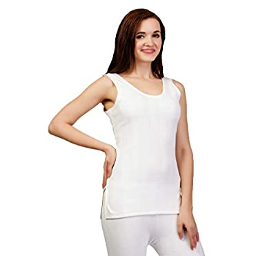ZIMFIT Cotton Women's or Girls Winter wear Half Sleeves Thermal,Warmer, Slip Top in White Colour (Pack of 1)