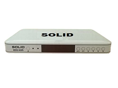 SOLID HDS2-6105 BY LOYALVALUE DTH SET TOP BOX MEDIA PLAYER D2H MKV MP4 USB 1080P FULL HD FREE TO AIR DVB-S2 WIFI HDMI H.264