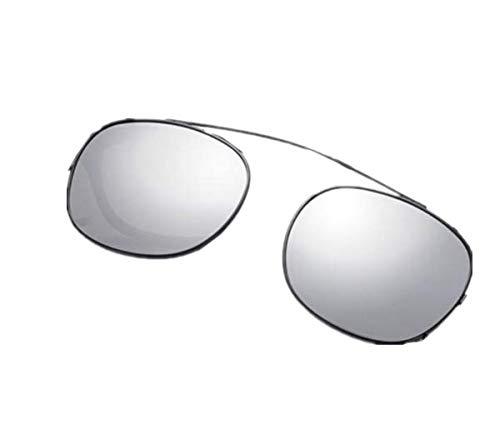 TENGGO Bikight Polarisierte Clip auf Sonnenbrillen Reflektierenden Spiegel Sieben Farben-Silber