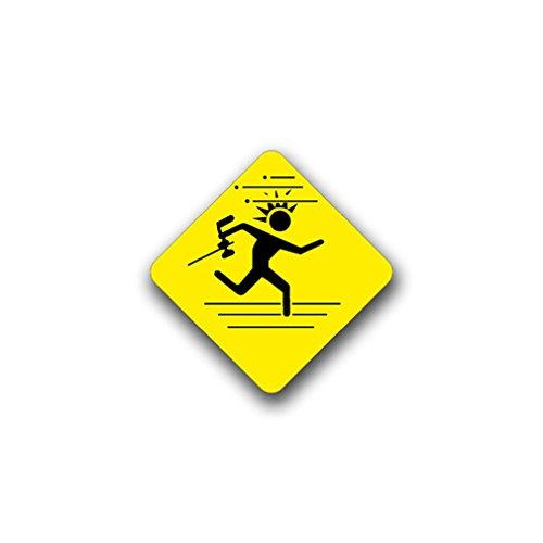 Aufkleber/Sticker Paintball Schild Spiel Piktogramm Farbkugel 7x7cm A819