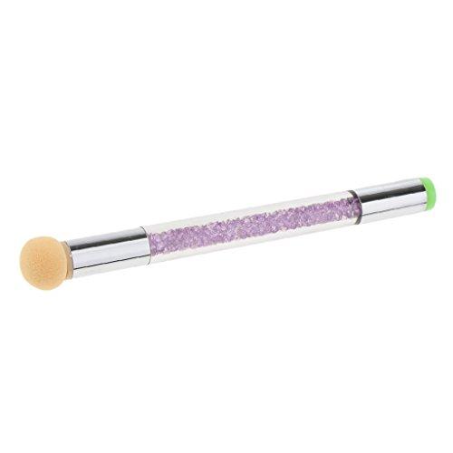 D DOLITY Pinceau en éponge à doubles extrémités pour dégradés de couleur pour faire briller et décorer des ongles en gel UV - Violet, comme décrit