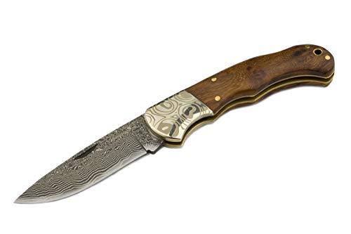 Izumi Ichiago - Imbuia-Damast - Taschenmesser aus Japanischem Damaststahl